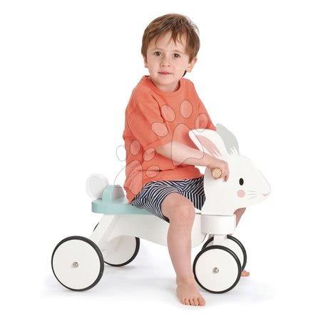 Leseni poganjalci - Leseni poganjalec zajček Running Rabbit Ride on Tender Leaf Toys s funkcionalnim krmilom od 18 mes_1