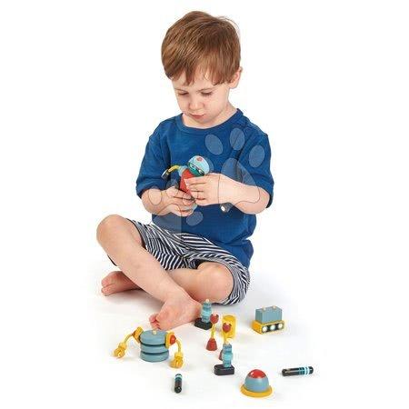 Dřevěné stavebnice Tender Leaf  - Dřevěné retro postavičky Robot Construction Tender Leaf Toys skládačka_1