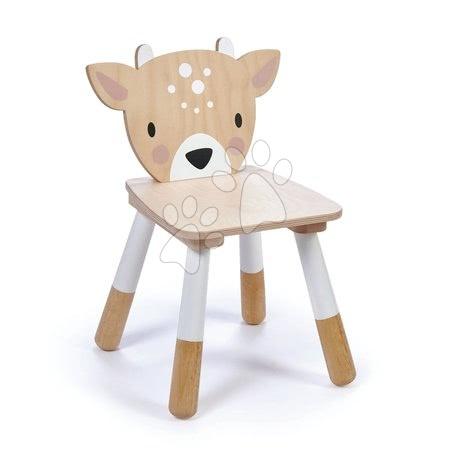 Leseni stolček Srna Forest Deer Chair Tender Leaf Toys za otroke od 3 leta