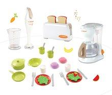 Set dětský toaster Mini Tefal Smoby, kávovar Tefal, ponorný mixér Tefal a jídelní souprava Bubble Cook