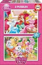 EDUCA 16170 cardboard puzzle Palace Pets 2*20ks