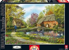 Puzzle Genuine Meadow Cottages Educa 5000 dielov od 15 rokov