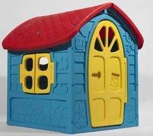 Domčeky pre deti - Záhradný domček Dohány s včielkou na streche modro-žltý od 24 mes_0