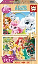 EDUCA 16370 drevené puzzle Palace Pets 2x25ks