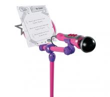 Staré položky - Mikrofón Violetta Zlatá edícia Smoby so stojanom ružovo-fialový_2