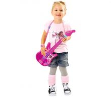 Detské hudobné nástroje - Hudobná gitara Violetta Zlatá edícia Smoby elektronická ružová_0