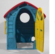 Domčeky pre deti - Záhradný domček Dohány s včielkou na streche modro-žltý od 24 mes_2