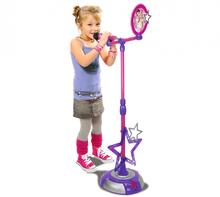 SMOBY 27230 Violetta álló zenélő mikrofon kottával Arany kiadás