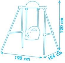 Hojdačky - Hojdačka Portique Smoby s kovovou konštrukciou vysoká 120 cm od 6 mes_0