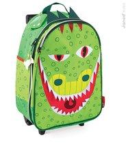 Školské tašky a batohy - Kufor T-Rex Dino Janod na kolieskach od 3 rokov_0