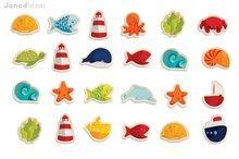 Drevené magnetky pre deti Ocean Magnets Janod 24 ks od 2 rokov