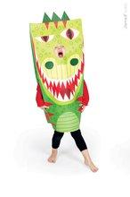 Ručné práce a tvorenie - Karnevalový kostým T-Rex Dino Sackanimo Janod _2