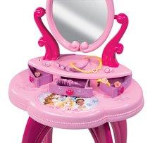 Kozmetické stolíky sety - Set kozmetický stolík Disney Princezné 2v1 Smoby so stoličkou a servírovací vozík s raňajkovou súpravou_3