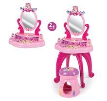 Kozmetické stolíky sety - Set kozmetický stolík Disney Princezné 2v1 Smoby so stoličkou a servírovací vozík s raňajkovou súpravou_0