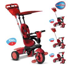 smarTrike 6753500 červená tříkolka Spirit Red Touch Steering 4v1 od 6 měsíců