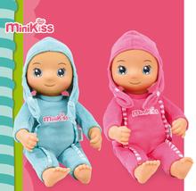 Bábiky od 9 mesiacov - Bábika so zvukom MiniKiss Smoby v ušianke 27 cm ružová od 12 mes_4
