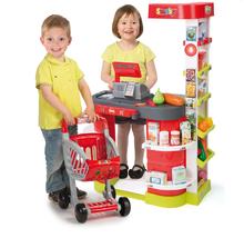 Obchody pre deti - Obchod City Shop Smoby s elektronickou pokladňou a vozíkom so 44 doplnkami_12