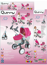Domčeky pre bábiky sety - Set prebaľovací stôl pre bábiku Baby Nurse Srdiečko Smoby a kočík Maxi Cosi & Quinny 3v1 (70 cm rúčka)_11