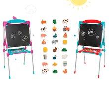 Školská tabuľa na hranie Smoby magnetická obojstranná s 80 doplnkami a 24 drevených magnetiek
