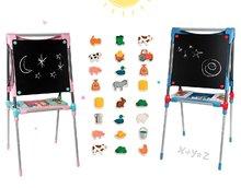 Školská magnetická tabuľa Smoby obojstranná s 80 doplnkami a 24 drevených magnetiek