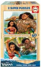 Drevené puzzle pre deti Vaiana Disney Educa 2x50 dielov od 5 rokov