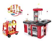 Set detská kuchynka Tefal Studio XXL Smoby s magickým bublaním a zmrzlinársky vozík s hamburgermi