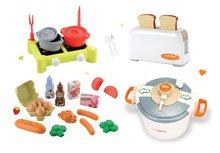 Spotrebiče do kuchynky - Set toaster Mini Tefal Smoby tlakový hrniec Tefal, potraviny v sieťke a varič s hrncami_9