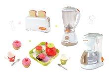 Set dětský toaster Mini Tefal Smoby, kávovar Tefal, mixér Tefal a čajový set Cheef Cook