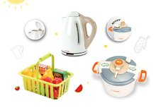 Spotrebiče do kuchynky - Set tlakový hrniec Mini Tefal Smoby ponorný mixér Tefal, rýchlovarná kanvica Tefal a malý košík s ovocím_8