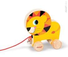 Drevený lev Janod zvieratko z cirkusu na ťahanie so zvončekom od 12 mesiacov