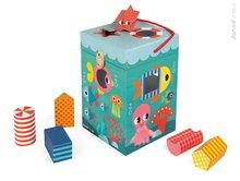 JANOD 02785 készségfejlesztő kocka Óceán különböző alakzatú és kivitelű kockákkal 12-36 hónapos korig