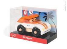 JANOD 05215 mágneses összerakó játék fából KIT MAGNET Auto Roadster narancssárga 9 db od 2-6 éves korig