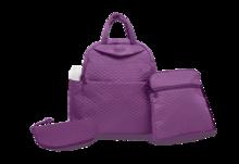 Prebaľovacia taška Infinity 5v1 toTs-smarTrike s vnútornou taškou a termoobalom na fľašu fialová