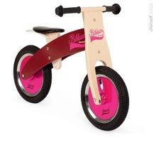 Drevené odrážadlá - Drevený balančný bicykel Bikloon Janod Pink&Burgundy od 3 rokov_0