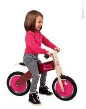 Drevené odrážadlá - Drevený balančný bicykel Bikloon Janod Pink&Burgundy od 3 rokov_1