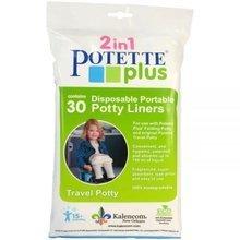 Dodatno polnilo za potovalno kahlico/otroškega nastavka Potette Plus 30 kosov