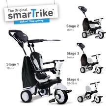 smarTrike 6752400 černo-bílá tříkolka Spark BlackWhite Touch Steering 4v1 od 10 měsíců