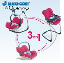 Kočíky od 18 mesiacov - Sada stolička, autosedačka a hojdačka pre bábiku Maxi Cosi & Quinny 3v1 Smoby ružovo-modrá_2