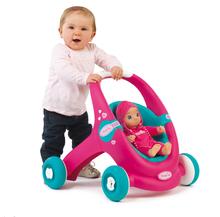 Kočíky pre bábiky od 12 mesiacov - Kočík pre bábiku a chodítko 2v1 MiniKiss Smoby ružovo-tyrkysový od 12 mes_4