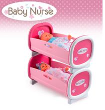 Postieľky a kolísky pre bábiky - Kolíska pre dve bábiky do 42 cm Baby Nurse Smoby poschodová od 24 mes_0