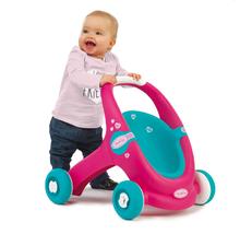 Kočíky pre bábiky od 12 mesiacov - Kočík pre bábiku a chodítko 2v1 MiniKiss Smoby ružovo-tyrkysový od 12 mes_1