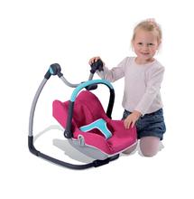Kočíky od 18 mesiacov - Sada stolička, autosedačka a hojdačka pre bábiku Maxi Cosi & Quinny 3v1 Smoby ružovo-modrá_3