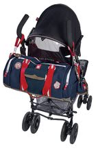 Prebaľovacie tašky ku kočíkom - Prebaľovacia cestovná taška ku kočíku Bowling Red castle modrá_4