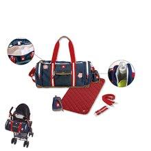 Prebaľovacie tašky ku kočíkom - Prebaľovacia cestovná taška ku kočíku Bowling Red castle modrá_0