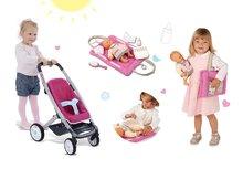 Set kočík pre bábiku Maxi Cosi & Quinny 3v1 Smoby (65,5 cm rúčka) a podložka na prebaľovanie