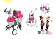 Smoby 550192A-5 set kočík pre bábiku Maxi Cosi & Quinny 3v1 a bábika Customize Me Doll s doplnkami