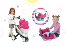 Kočíky pre bábiky sety - Set kočík pre bábiku Maxi Cosi & Quinny 3v1 Smoby (70 cm rúčka), autosedačka Maxi Cosi & Quinny a vanička Baby Nurse_0