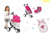 Set kočík pre bábiku Maxi Cosi & Quinny 3v1 Smoby a nočný úbor Baby Nurse pre 42 cm bábiku