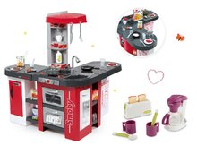 Set detská kuchynka Tefal Studio XXL Smoby s magickým bublaním a raňajkový set s kávovarom a toasterom