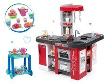 Set detská kuchynka Tefal Studio XXL Smoby s magickým bublaním a servírovací vozík s raňajkami